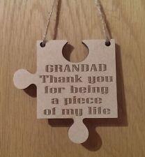 Grandad Gift Piece Of My Life Jigsaw Piece Thank You Present Keepsake