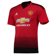 695f871bb Official Manchester United Home Jersey Shirt Tee Top 2018 19 Football Men  adidas