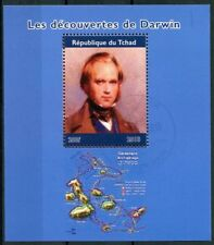 Chad 2018 CTO Charles Darwin Discoveries Galapagos 1v M/S Science Stamps