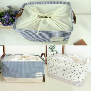 Foldable Fabric Canvas Storage Bags Basket Laundry Toys Fabric Storage Bag Tidy