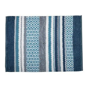 100% Cotton Woven Yarn Dyed Multi Stripe Lifestyle Rug 60 x 90 cm FREE DELIVERY*