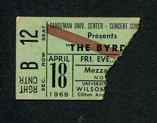 1969 The Byrds Concert Ticket Stub Cincinnati Eight Miles High Roger McGuin