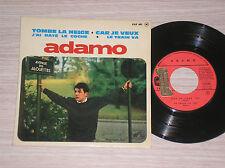 """SALVATORE ADAMO - TOMBE LA NEIGE / J'AI RATE' LE COCHE - 45 GIRI 7"""" EP FRANCE"""