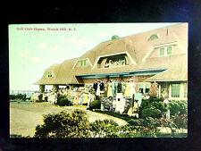 1911 Golf Club House Watch Hill RI post card