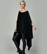 BLACK Oversized Lagenlook Style  Poncho/kaftan Top/dress Sz 8-26