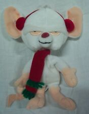 "WB Looney Tunes Animaniacs Pinky and the BRAIN  W/ SCARF RAT 9"" Stuffed Animal"