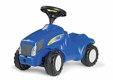 Rolly Toys New Holland T6010 Mini Trac - children's foot to floor blue tractor