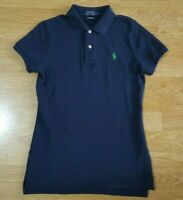 Ralph Lauren The Skinny Polo T Shirt Top Tee Ladies Short Sleeves Navy Size S