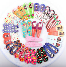 20pcs Toddler New Bendy Clips Clip Pin Butterfly BB Hairclip Girl Kid 10pair