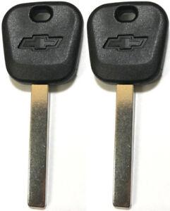 2 GM REPLACEMENT TRANSPONDER CHIP Chevy BowTie Logo KEY BLANK B119-PT, B121-PT