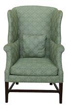 49886Ec: Kittinger Colonial Williamsburg Petite Mahogany Wingback Chair Wa-1047