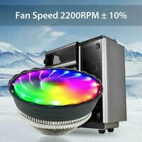 RGB LED CPU Cooler Fan Heatsink For Intel LGA1155 Socket /775/AMD4/AM3+ H3S0