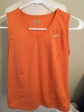 (T5) Women's Nike Fit Dri Large Orange Athletic Tank
