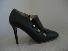 """NW AUTH VALENTINO ROCKSTUD ANKLE BOOTS MILITARY STYLE SZ37""""RET$ 985WHAT BARGAIN"""