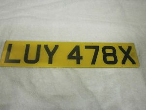 GREAT BRITAIN ENGLAND WORCESTER VINTAGE 1981 # LUY 478X REAR LICENSE PLATE