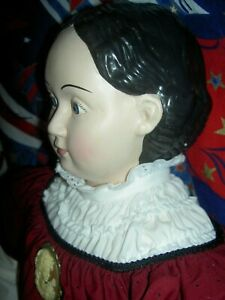 """Mint-in-box 30"""" cloth, Ludwig Greiner doll, USPS stamp Classic American Series"""