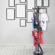 15 Hooks Metal Coat Racks Hat Jacket Stand Tree Hanger Rack Silica Gel Base Usa