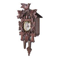 Vintage Cuckoo Clock Forest Quartz Swing Wall Alarm Handmade Roo