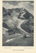 Ortler mit der Schaubachhütte Ortler Alpen Südtirol Alpinismus Original 0258