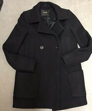 MAJE Black Coat. Wool Blend. Size FR38. Very Good Condition