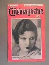 Cinémagazine - N°23 - 7 Juin 1929 - Evelyn BRENT - Maria JACOBINI