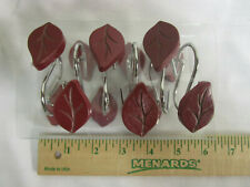Red/Brown Leaves Shower Curtain Hooks Set of 12