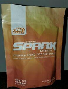 Advocare Spark Stick Packs - 14 count Sweet Tea Lemonade  - Free Shipping