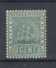 BRITISH GUIANA 1905-06 1 CENTESIMO BLU VERDE N.240c G.O MLH*