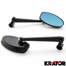 Universal Black Motorcycle Rear View Mirror Sportbike For Harley + Bolt Adapters