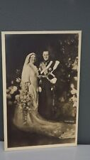 1937 Vintage Marriage Postcard Princess Juliana & Bernhard of the Netherlands