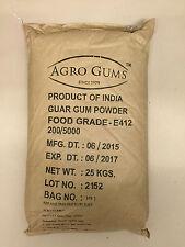 25 kg Guar Gum Farine de Guarée E412 5000 Cps sans Gluten, Vegan