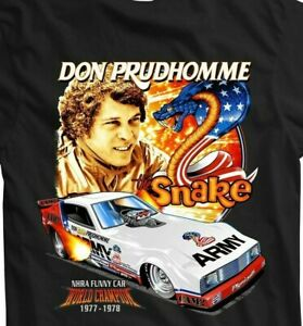 NEW! DON PRUDHOMME Snake & Mongoose Red Line Club ARMY Arrow XL T Shirt NHRA