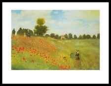 Claude Monet Mohnfeld bei Argenteuil Poster Kunstdruck mit Alu Rahmen 24x30cm