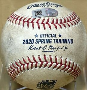 WILL SMITH GAME-USED MLB HOLO BASEBALL PRE-PANDEMIC DODGER GIANTS CACTUS 2/22/20