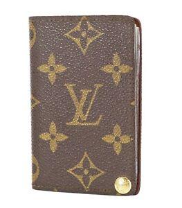 Auth LOUIS VUITTON Monogram Porte Billets Credit Pression Card Case #35453A