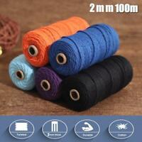 Macrame Rope Cotton Twisted Cord Hand Craft String DIY New Decor Home N5D6