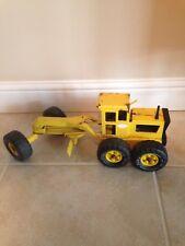 Vintage 1970's Tonka Yellow Road Grader Tractor MR970