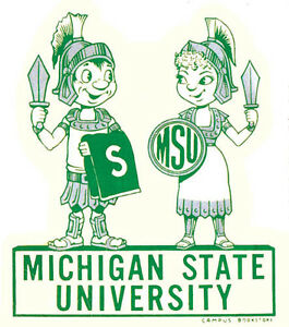 Michigan State  University    Vintage Looking Travel Decal Sticker College
