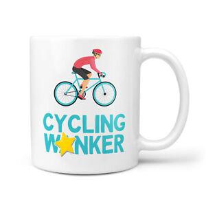 Cycling Wanker Mug - Gift For Cyclist Bike Him Her Men Birthday Christmas Gifts