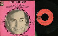 LUIS MARIANO 45 TOURS FRANCE CHANSON POUR UNE ROSE