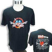 VTG Tom Petty Heartbreakers MOJO T-Shirt Tour 2010 Cities Dates Concert LG RARE!
