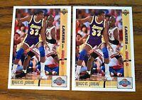 1991-92 Upper Deck #34 MICHAEL JORDAN vs MAGIC JOHNSON (2)