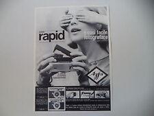advertising Pubblicità 1964 AGFA ISO RAPID