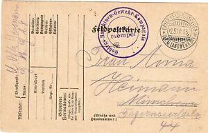 Postkarte 1915 Feldpost 6.LW WK1 Gebirgs MG Komp.8 Vogesen Militär