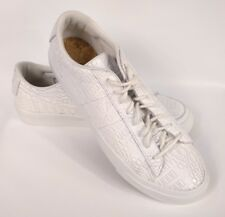 Nike Blazer Studio Low Mens 880872-100 Summit White Croc Athletic Shoes Size 11