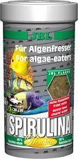 JBL Premium Spirulina Fiocchi 250ml-cibo per le alghe mangiare pesce e gamberetti