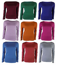 MARKS & SPENCER PURE COTTON ROUND NECK LONG SLEEVE T-SHIRT TOP M&S COLLECTION1