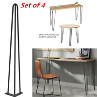 """Set of 4 28"""" 30"""" Hairpin Coffee Table Legs DIY Solid Iron Home Furniture Parts"""