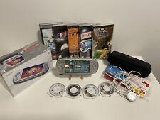 Sony PSP 3004 Slim & Lite Mystic Silver Spielkonsole Bundle/OVP/ inkl 10 Spiele