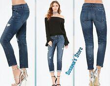 NWT bebe Galaxy Girlfriend Jeans SIZE S Cool silver metallic paint splatters$113